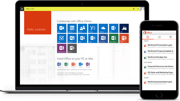 Office 365 Interface